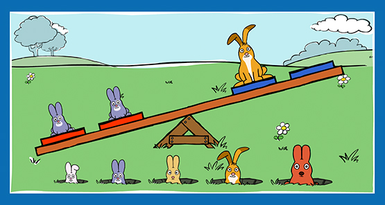 Balanza de Conejitos
